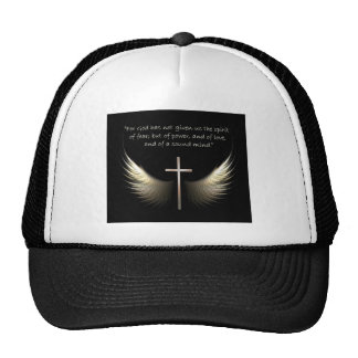 Holy Spirit Wings with Christian Cross Scripture Cap
