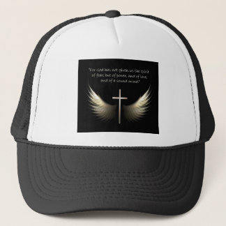 Holy Spirit Wings with Christian Cross Scripture Trucker Hat