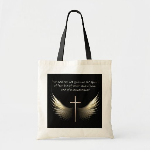 Holy Spirit Wings with Cross and Scripture Verse Bags