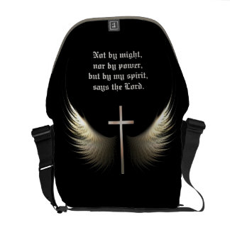 Holy Spirit Wings with Cross Custom Bible Verse Commuter Bags