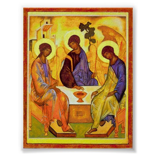 Holy Trinity by Andrei Rublev. Great painting titl