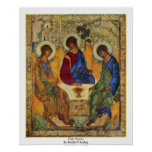 Holy Trinity By Rublã«V Andrej Poster