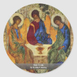 Holy Trinity By Rublã«V Andrej Round Sticker