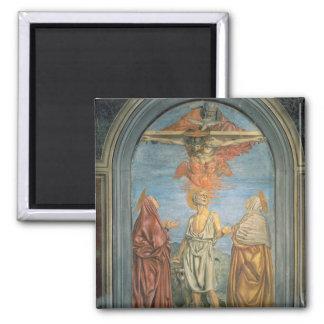 Holy Trinity with St. Jerome (fresco) Magnet