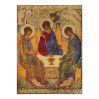 Holy Trinity with Wings c1410 5.5x7.5 Paper Invitation Card