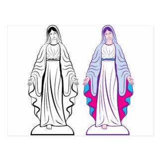 Holy Virgin Godmother vector Postcard