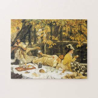 Holyday, the Picnic by James Tissot, Victorian Art Jigsaw Puzzle