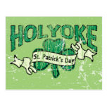Holyoke St. Patrick's Day Vintage Retro Postcard