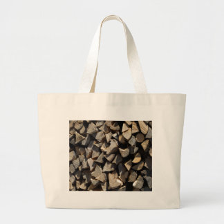Holzscheite logs tote bag