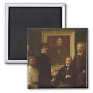 Homage to Delacroix, 1864 Square Magnet