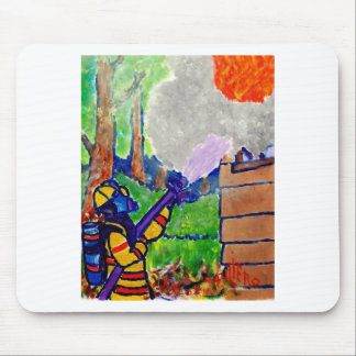 Homage to Firefighters by Piliero Mouse Pad