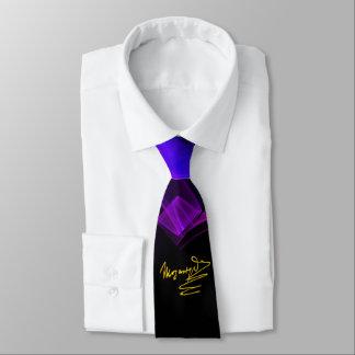 HOMAGE TO MOZART/Blue Purple Fractal Swirls, Black Tie