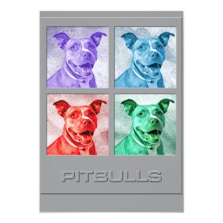 Homage to Pitbulls 13 Cm X 18 Cm Invitation Card