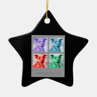 Homage to Warhol Pitbulls Ornaments