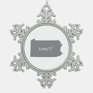 Home <3 Pennsylvania Pewter Snowflake Decoration