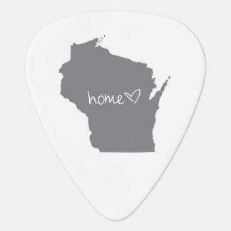Home <3 Wisconsin Guitar Pick
