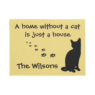 Home and Cat Custom Doormat