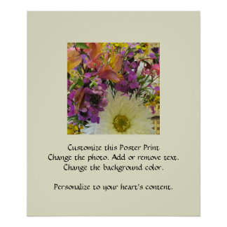 Home and Garden Flowers Shasta Daisy Mix Posters