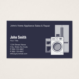 Home Appliance Service, Sale and Repair Business Card