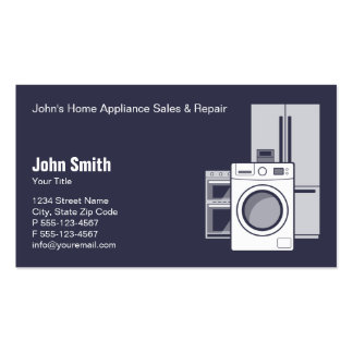 Home Appliance Service, Sale and Repair Pack Of Standard Business Cards