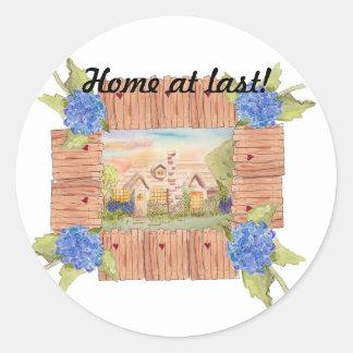 Home at Last Round Sticker