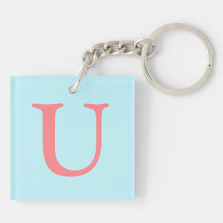 Home Away Double-Sided Square Acrylic Key Ring