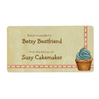 Home Baked Cupcakes Personalized Labels