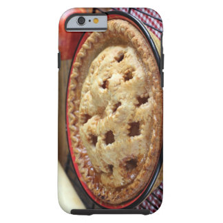 Home baked pie on cooling rack with tough iPhone 6 case