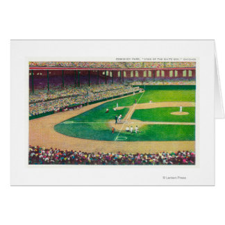 Home Base Bleachers View of Comiskey Park Card