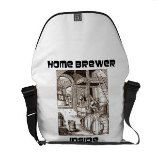 Home Brewer Inside 16th Century Woodcut Brewery Courier Bags