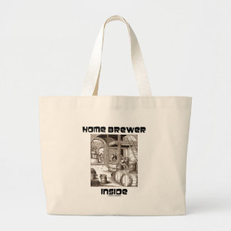 Home Brewer Inside 16th Century Woodcut Brewing Tote Bags