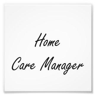 Home Care Manager Artistic Job Design Photo Art