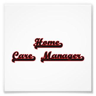 Home Care Manager Classic Job Design Photo