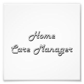 Home Care Manager Classic Job Design Art Photo