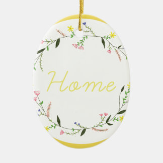 Home Ceramic Oval Decoration