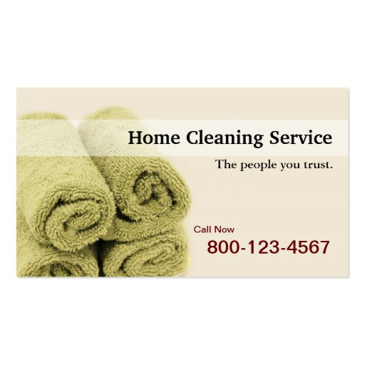 Home Cleaning Service business card