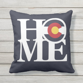 HOME Colorado OUTDOOR Throw Pillow Indigo Blue