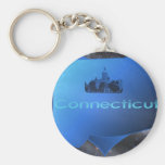 Home Connecticut Basic Round Button Key Ring