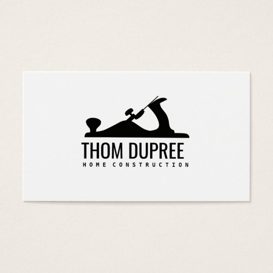 Home Construction and Carpentry Wood Plane Logo Business