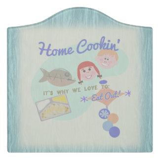 Home Cookin Kitchen Door Sign