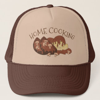Home Cooking Meat Loaf Potato Mushroom Gravy Food Trucker Hat