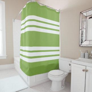 Home Decor GREENERY Striped Shower Curtain