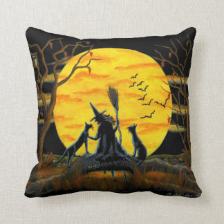 Home,decor,pillow,Halloween,witch,bats,owl,spider Cushion