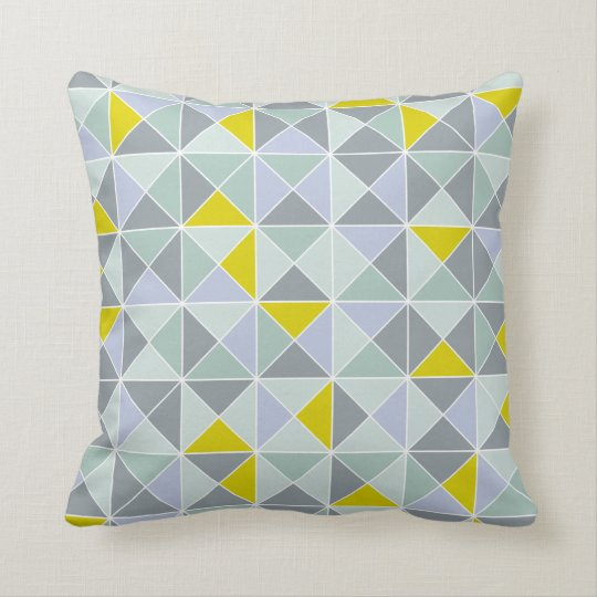 Home design pillow in geometric pattern