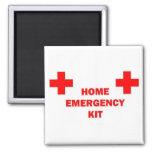 Home Emergency Kit Square Magnet