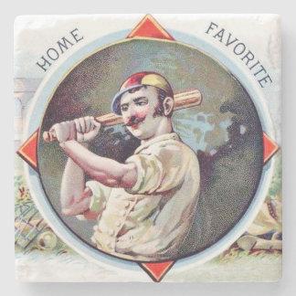 Home Favorite, Baseball, Antique Cigar Label Stone Coaster