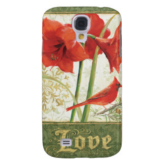 Home for Christmas Amaryllis Love Galaxy S4 Case