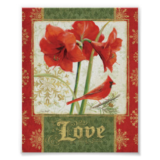 Home for Christmas Amaryllis Love Poster