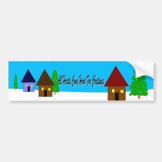 Home For Christmas Car Bumper Sticker