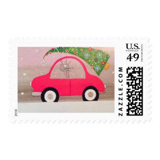 HOME FOR CHRISTMAS Postage Stamp